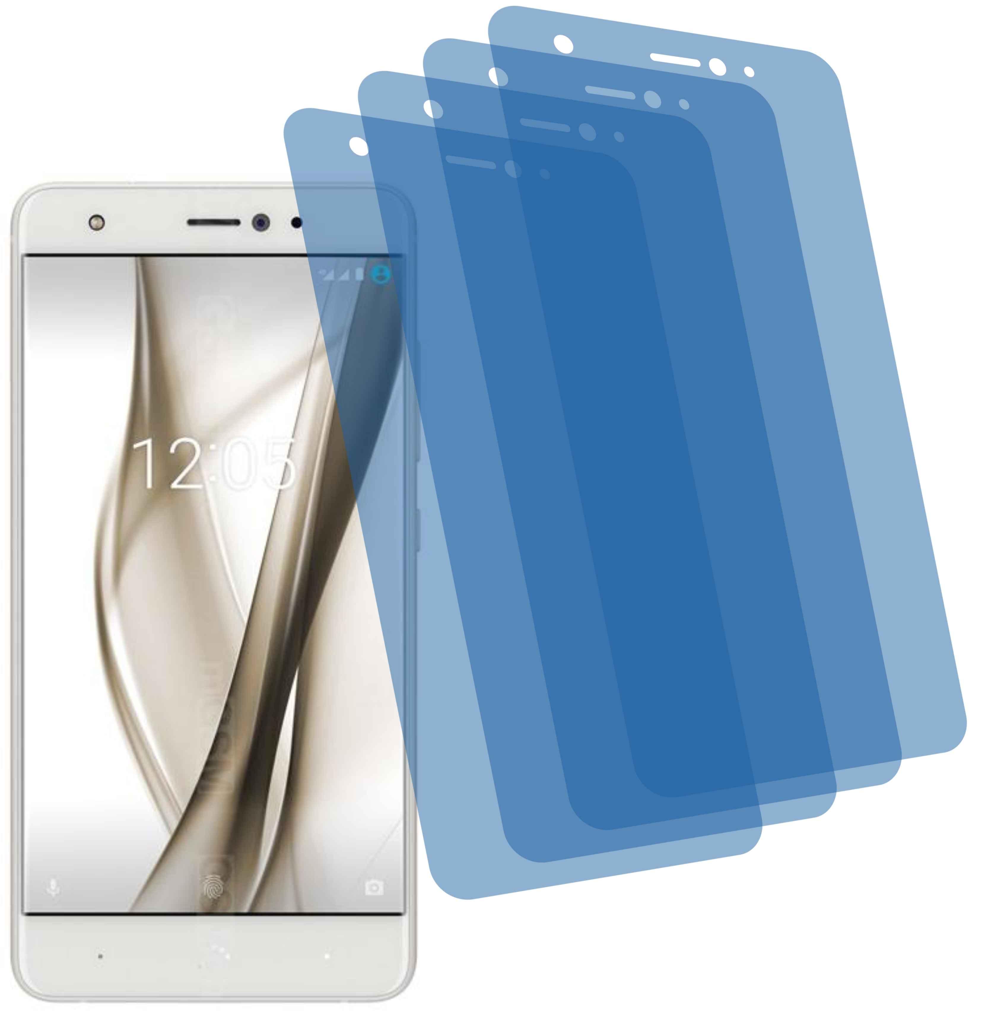 4x Displayschutzfolie antireflex für bq Aquaris X Pro