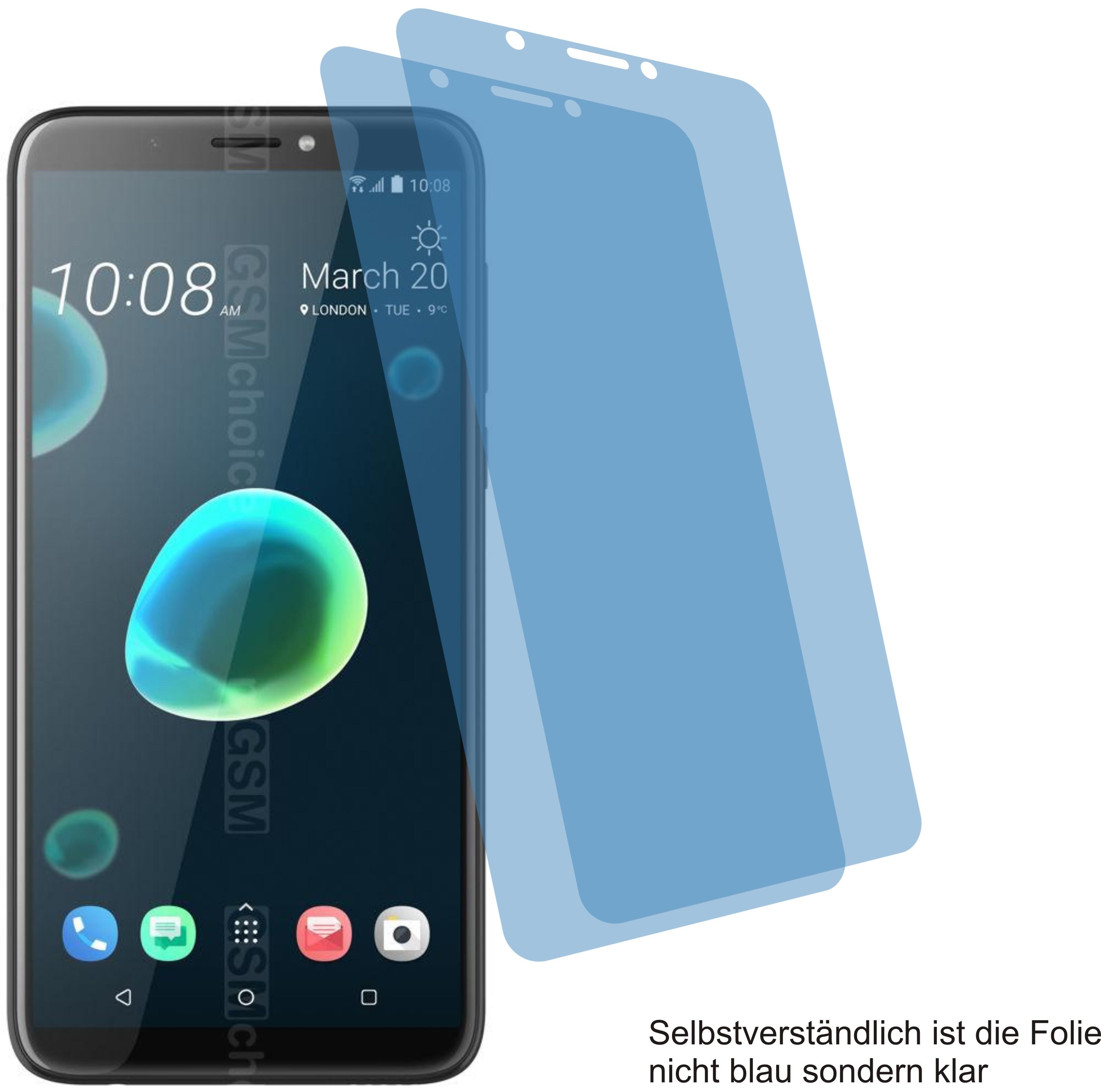 2x Displayschutzfolie antireflex für HTC U12+ 12 Plus