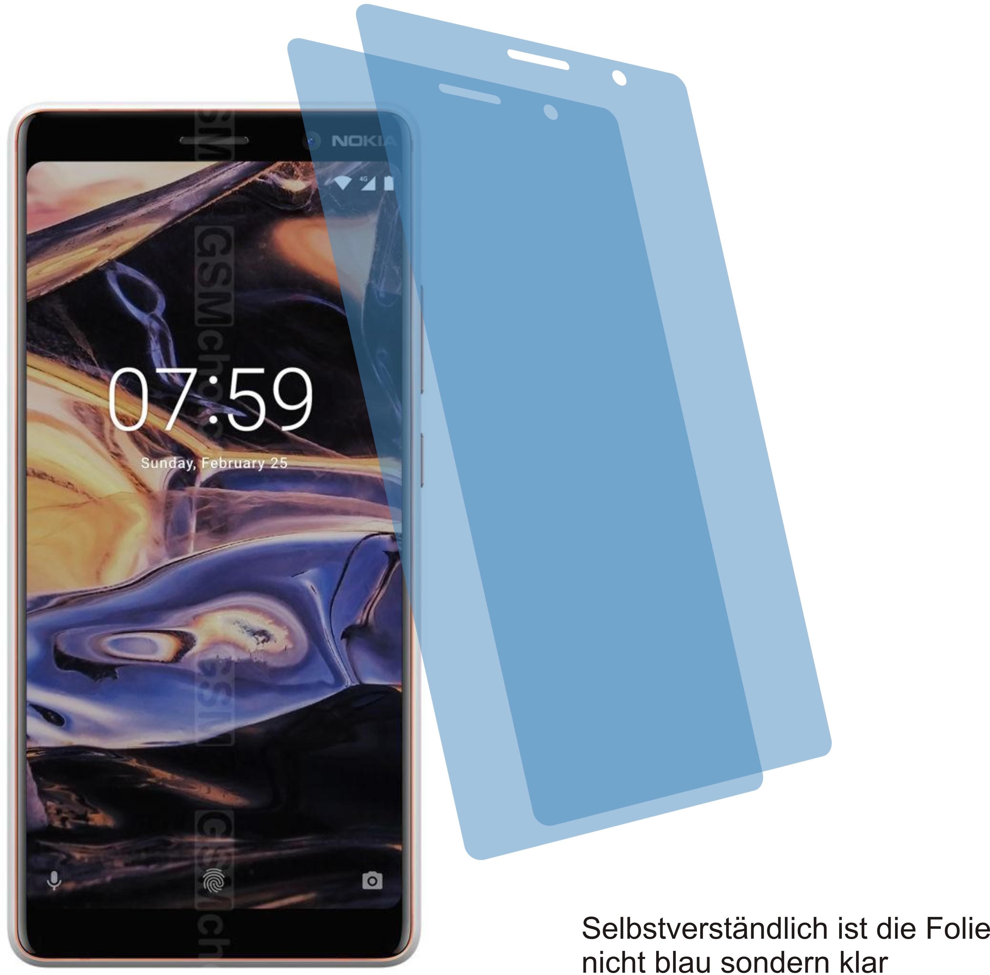 2x Displayschutzfolie antireflex für Nokia 7 plus