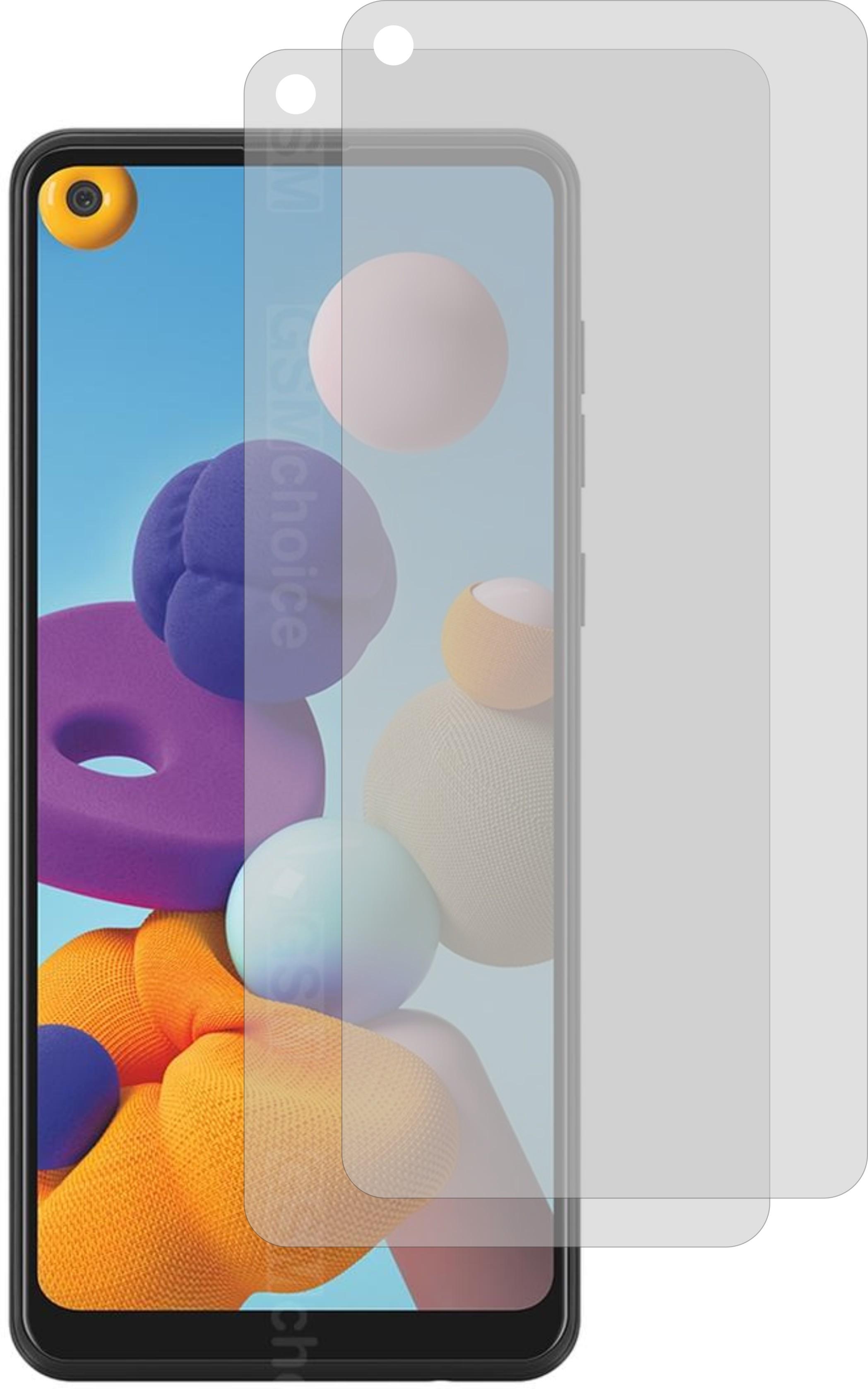 2x Displayschutzfolie KLAR für Samsung Galaxy A21s